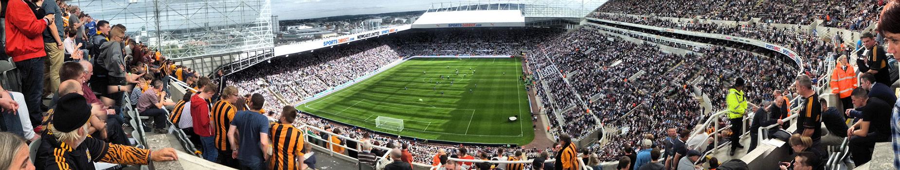 Voetbalreis Newcastle met de boot